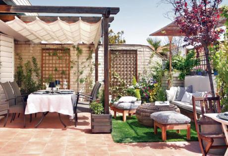 Reformas y decoraci n de terrazas en barcelona espacios for Como hacer una terraza techada